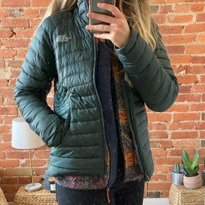 The North Face Down jacket S green